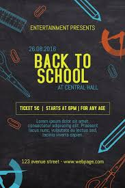Back To School Bash Poster Template Event Poster Template