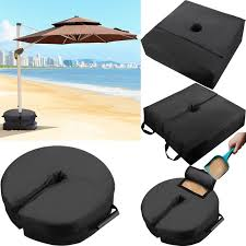 details about square round patio sunshade umbrella base weight bag sand outdoor umbrellas tool