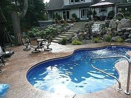 small inground swimming pools cost pool s viking pools trilogy leisure fiberglass swimming pool cost home design
