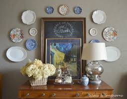 Ever wondered how to hang plates on a wall without those awful plate rack  things? See this board for tips and steps on decorating your wall with  hanging ...