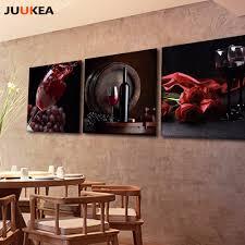 Us 994 3 Panel Hd Fotografie Roten Trauben Wein Leinwand Kunstdruck Malerei Poster Wandbild Für Küche Und Esszimmer Wohnkultur In Malerei Und