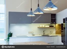 Moderne Wohnlandschaft Die Küche Der Insel Schweben Sie