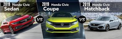 2019 Honda Civic Sedan Vs Coupe Vs Hatchback
