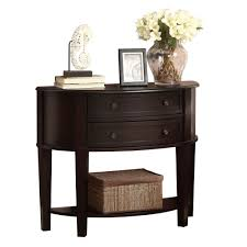 entryway table with drawers. cappuccino demilune entry table with drawers entryway