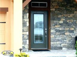 entry door glass exterior front beveled within insert design 10
