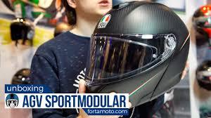 Unboxing The Agv Sport Modular Helmet Review Fortamoto Com
