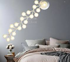 modern fashion acryl bar wall lamp novel creative diy flower wall light for children