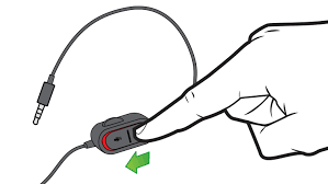 xbox one mic not working troubleshoot no sound for wired headset in an illustration an arrow and finger emphasize the mute button on the audio controls