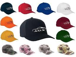 amc io 1968 1969 amc amx classic car outline design hat cap new