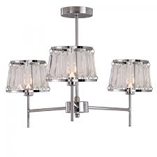 village at home gatsby 3 arm ceiling light fitting