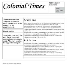 Kids Newspaper Template Colonial Newspaper Template For Kids Templates Corner Within With