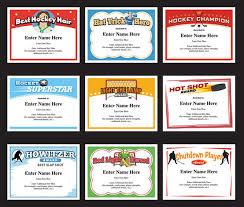 softball award certificate hockey certificates templates awards for hockey teams funny softball