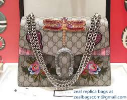 gucci 403348. gucci sequins dragonfly and heart embroidered dionysus leather shoulder medium bag 403348/400235 2017 403348 a