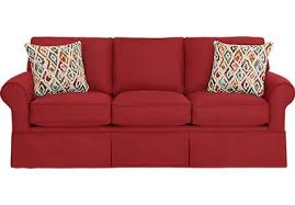 affordable furniture sensations red brick sofa. Provincetown Poppy Sofa Affordable Furniture Sensations Red Brick