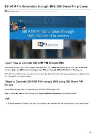 sbi atm card pin generation page 2