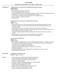 Healthcare Professional Resume Sample Healthcare Assistant Resume Samples Velvet Jobs