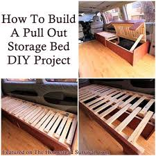 The Homestead Survival | How To Build A Pull Out Storage Bed DIY Project |  http