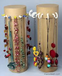 DIY Jewelry Towers [Tutorial] : cardboard cylinders (or oatmeal containers)  + cup