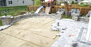pavers over concrete patio how to install over a concrete patio without mortar