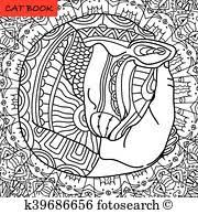 happy cat mutual love coloring book page for s