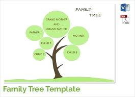 Sample Of Family Tree Chart Easy Family Tree Template