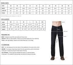 Mens Jeans Sizes Conversion Chart 19 Efficient Draggin Jeans Size Chart