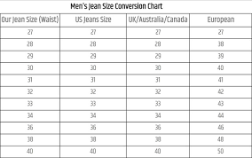 Waist Size Conversion Chart Jean Waist Size Conversion Chart Elegant Size Tables