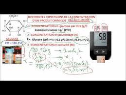 du glucose calcul conversion g