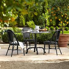 round outdoor dining sets. Fine Dining La Coupole IndoorOutdoor Dining Table Round Black Granite Top  Williams  Sonoma And Outdoor Sets