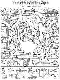 Liz's delightful characters laugh, romp, and play while great for classrooms, families and kids of all ages. Three Little Pigs Hidden Objects 400 Hidden Pictures Hidden Picture Puzzles Hidden Pictures Printables