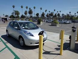 hybrid vehicle at a charging station