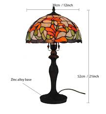 2019 New Tiffany Style Table Lamp 12 Inch Handmade Stained Glass