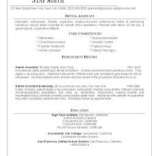 Dental Resume Templates Dental Assisting Resumes Download Dental