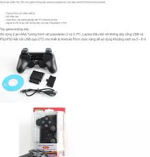 Tay cầm chơi game không dây cho Android tivi box/PC/Laptop/PS3/PS2 (Đen)