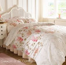 shabby country cottage chic french market fl queen duvet set view images