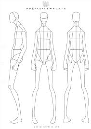 Costume Drawing Template Body Template Drawing Male Costume Goldenagefigurines Com