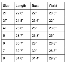 Tutu Measurement Chart Girls Unicorn Party Tutu Dress