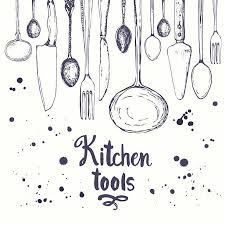Image Art Print Istock Best Kitchen Utensil Illustrations Royaltyfree Vector