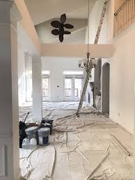 photo of first painting company charlotte nc united states cover the floors