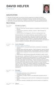 President Owner Resume Samples Visualcv Resume Samples Database