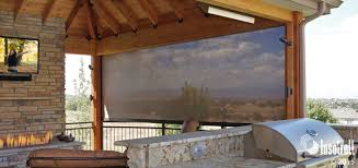 oasis patio shades driven by lutron