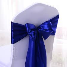royal blue chair wholes royal blue satin chair bow sashes ribbon wedding reception banquet decoration royal blue chair