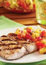 Grilled mahi mahi, Pineapple salsa ...