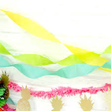 set of three crepe paper streamers
