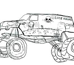 Grave Digger Color Pages Monster Truck Coloring Pages Grave Digger