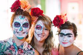 traditionally used to celebrate día de los muertos the mexican day of the dead sugar skull makeup is painted upon the faces of the living in memory of