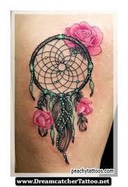 Beautiful Dream Catcher Tattoos Wonderful Pink Rose Flowers And Dreamcatcher Tattoo 49