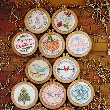 product details of poplikdfr mini wooden cross stitch fixing frame diy hang pendant embroidery frame cute decoration gift style large round