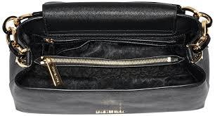 portia large saffiano leather shoulder bag black