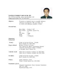Ideas Collection Filipino Nurse Resume Sample In Sample